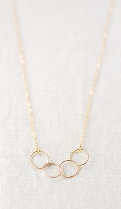 Kalei necklace  delicate gold necklace with infinity circle