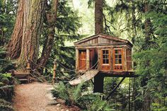 guest house / studio / treehouse dream. Built by TreeHouse Workshop in Seattle. Just need to get my hands on some property in the redwoods.