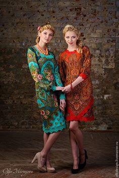 Russian Fashion - платье из ПП платков