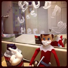 300+ Elf on the Shelf Photos  Hygiene is important to elves!