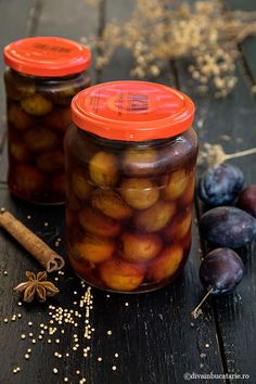 Pickles, Plum, Beans, Vegetables, Drinks, Food, Canning, Drinking, Beverages