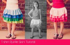 T-shirt Ruffle Skirt Tutorial