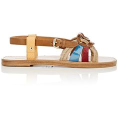Isabel Marant Étoile Women's Jeana Sandals (22,510 PHP) ❤ liked on Polyvore featuring shoes, sandals, multi, buckle sandals, slingback flats, open toe flats, braided sandals and flats sandals