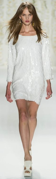 Rachel Zoe Spring Summer 2013 white sequence dresse love it