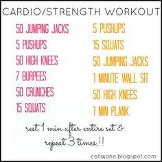 No Gym? No Problem. At Home Cardio/Strength Workout #cardioworkoutcircuit