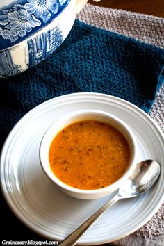 Grain Crazy: Toasted Quinoa Vegetable Soup. Delicious way to warm up.