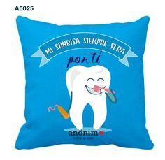 Regalos originales y personalizados en #YosoyAnonimo #Almohadas #Almohadaspersonalizadas #dentista #dientitos