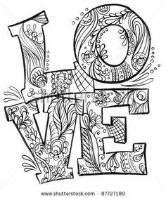 Love (Hand Drawn) by Vector Ninja, via ShutterStock