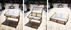 reciclar palés de madera para convertirlos en mesas, sillas, semilleros, huertos urbanos y composteras