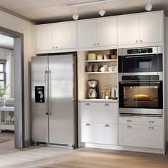 Are you looking for some refreshing kitchen ideas that are affordable? Explore AXSTAD – a kitchen that has a timeless look that is easy to personalize. Visit IKEA to see this and many other kitchen items like carts, waste-sorting bins, faucets, and more. Built In Microwave Cabinet, Microwave In Kitchen, Built In Ovens, Oven Cabinet, Diy Kitchen Storage, Kitchen Items, Kitchen Living, New Kitchen, Updated Kitchen