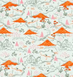 Tokyo Countryside Cotton Fabric by Cotton & Steel