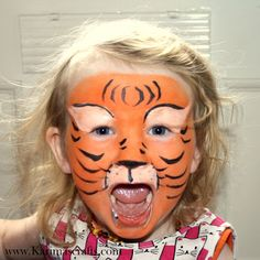 Karima's Crafts face paint painting tiger cute designs ideas for kids