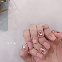 # Good Nail April The Art of the Month . Pink is also true Jinju . Color changeable, oil-free and matte-selectable . won for members / won for non-members ☞ Applies to members at cash settlement . Please note that canceling the day is a b Korean Nail Art, Korean Nails, Pink Nail Art, Pink Nails, Nail Deaigns, Cute Nails, Pretty Nails, Self Nail, Fall Acrylic Nails