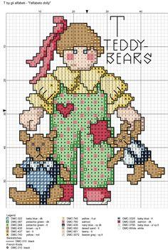 alfabeto dolly: T = teddy bears