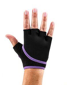 ToeSox Grip Gloves for Pilates Yoga Dance and Cross Training Light Purple Medium >>> Amazon most trusted e-retailer #CrossFitness