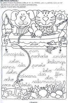 Mi primer etapa escolar : Fichas de apoyo para fortalecer la lectura y escritura Elementary Spanish, Spanish Lessons, English Class, Kids Education, Literacy, Language, Letters, Snoopy, Album