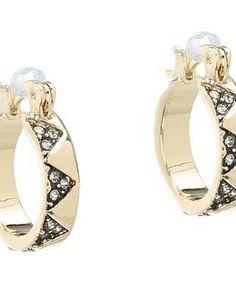 House of Harlow 1960 Pavé Huggie Earrings #accessories  #jewelry  #earrings  https://www.heeyy.com/suggests/house-of-harlow-1960-pave-huggie-earrings-gold-tone-smokey-white/
