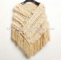 Poncho de lana como hacer - Imagui