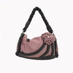 Pink Flower Purse Zipper Detail Faux Leather Handbag Cocktail Bag Vegan Girly   eBay