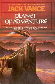 UK Grafton cover. Planet of Adventure is a series of four science fiction novels by Jack Vance, which relate the adventures of Adam Reith, the sole survivor of an Earth ship investigating a signal from the distant planet Tschai.