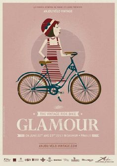 Previous pinner: We're so looking forward to the Anjou Vintage Velo extravaganza in June - already planning our outfits! Will Mrs Songbird emulate this 'glamour' look...