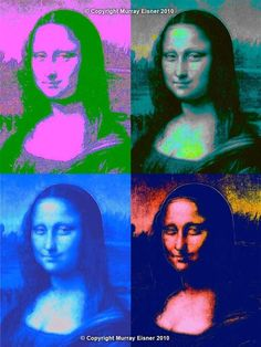 Mona Lisa by Andy Warhol #PopArt