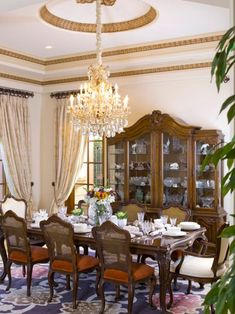 Dining room wall decor ideas diy modern design inspiration creative types of elegant chandeliers . Dining Room Decor Modern, Elegant Dining Room, Luxury Dining Room, Elegant Home Decor, Dining Room Walls, Elegant Homes, Dining Room Design, Dining Area, Living Room