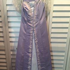 Long dress Long lavender/white dress. Worn once. Dresses Prom