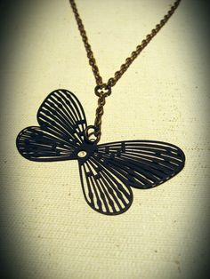 The Falling Butterfly Necklace - $20