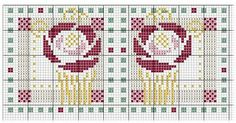 Mackintosh Rose • Chart – could be used for a pillow or glasses case or even a humbug.