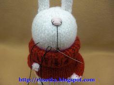 Тот самый заяц. Мастер-класс. От Розетки.: leub Sock Animals, Handmade Toys, Knitting Patterns, Projects To Try, Crochet Hats, Dolls, Charts, Amigurumi, Chrochet
