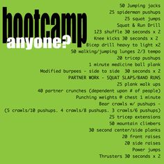 1000 Images About Bootcamp Workouts On Pinterest Boot