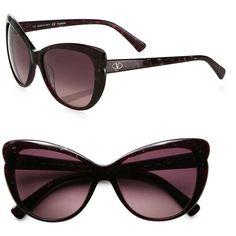 Valentino Retro Cat's-Eye Sunglasses ($210) ❤ liked on Polyvore