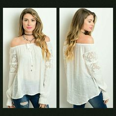 🔴3 for $35 Clearance!🔴Sheer Tunic This sheer lightweight boho tunic features lace detail on arms. Size seems to run smaller.   🔹If unsure of what size to order, just ask and I can provide measurements!  Material: 100% polyester  🚫No trades🚫  ✔Reasonable offers considered. (Item #13) Tops Tunics