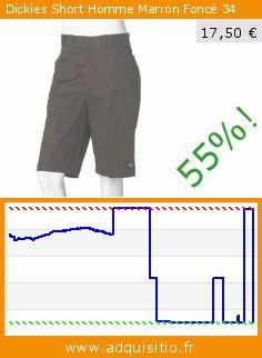 Dickies Short Homme Marron Foncé 34 (Vêtements). Réduction de 55%! Prix actuel 17,50 €, l'ancien prix était de 38,85 €. http://www.adquisitio.fr/dickies/short-homme-marron-fonc%C3%A9-2