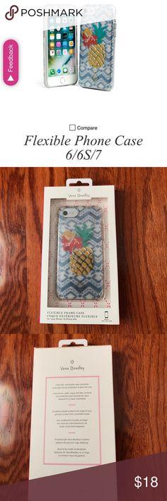 Vera Bradley phone case Beautiful case from VB Summer '17. Clear backing to show off your phone's color. Comes in original packaging. Fits iPhone 7. Vera Bradley Accessories Phone Cases