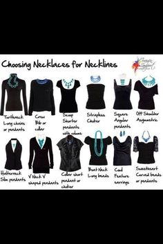 Not sure how to match jewelry with your neckline? For photos, delicate necklaces…