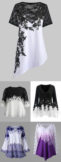 Up to 55% off. Free shipping worldwide.plus size fashion lace outifts for women.#plussize#plussizefashion#plussizeoutfits#womens#blouses#tshirt#rosegal#curvy#summer#spring#ideas