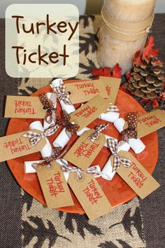 Turkey Ticket from Let's Get Together - #thanksgiving #tradition that gets everyone thinking about what they're grateful for! #family #november www.lets-get-together.com