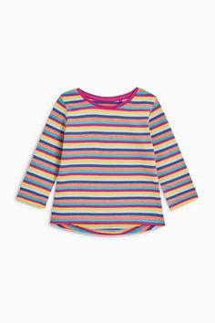 bd538a931 Buy Multi Long Sleeve Tops Five Pack (3mths-6yrs) from Next Australia Top