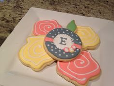 Cookies for Elizabeth's birthday in 2014.