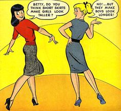 Good ol' Betty and Veronica, from Retro Girly