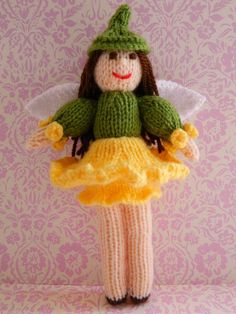 Looking for your next project? You're going to love Doll Knitting Pattern - Daffodil Fairy  by designer J.E. Marshall.