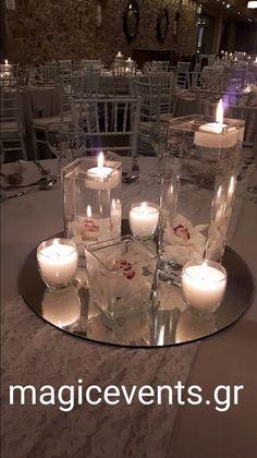 ΣΤΟΛΙΣΜΟΣ ΓΑΜΟΥ ΔΙΑΚΟΣΜΗΣΗ ΔΕΞΙΩΣΗΣ ΤΡΑΠΕΖΙΟΥ Flower Centerpieces, Table Centerpieces, White Wedding Flowers, Wedding Designs, Wedding Decorations, Romantic, Weddings, Diy, Home Decor