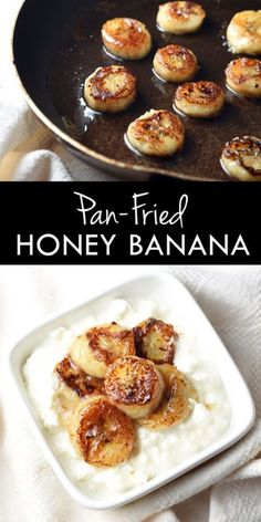 Pan-Fried Honey Banana is the best snack made in only 10 minutes! You can never go wrong with butter, cinnamon, and sugar.