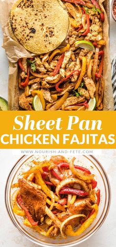 Nothing beats these sheet pan chicken fajitas when you need a simple dinner that makes everyone happy! Tender chicken, flavorful veggies! Easy Family Meals, Family Recipes, Mexican Food Recipes, Dinner Recipes, Healthy Recipes, Thin Sliced Chicken, Sheet Pan Suppers, Quick Weeknight Meals, Chicken Fajitas