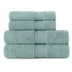 Loom Bamboo Cotton Luxury Hand and Wash Towel - Set of 4 - 0357330710