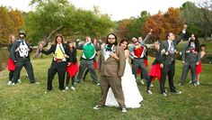 My very own Super-Hero wedding pose...  Must say this turned out super BAD ASS!!!