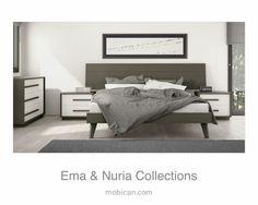 Click here to see how well Mobican's Ema bed and Mobican's Nuria fit together   Cliquez ici pour voir le lit Ema  et les meubles Nuria de Mobican ensemble: http://mobican.com/en/ema/ #mobican #madeincanada #bed #bedroom #furniture #HPMKT