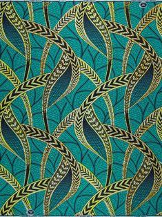 African wax block print fabric ref: vlisco.com